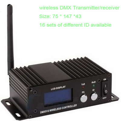 wireless 16 ID DMX 512 transmitter and receiver