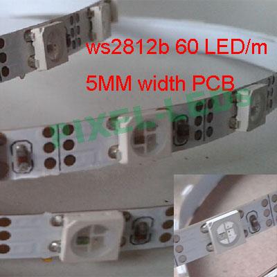 cheap for discount 6c099 b9348 Narrow FPCB 5mm ws2812b 60 pixel LED strip