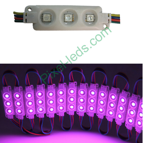 DC12V SMD5050 RGB light box injection molding 3 LED module